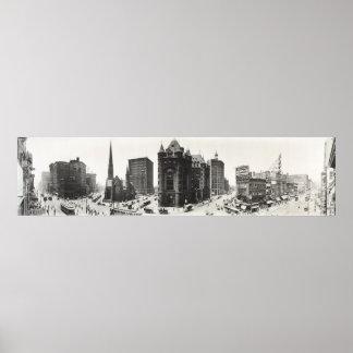 Panorama del búfalo, Nueva York a partir de 1911. Posters