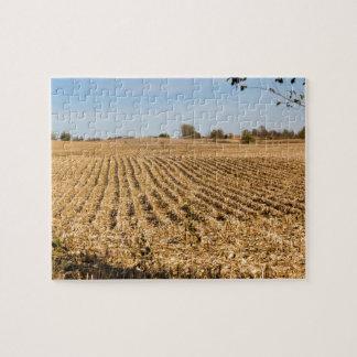 Panorama del campo de maíz de Iowa Rompecabezas
