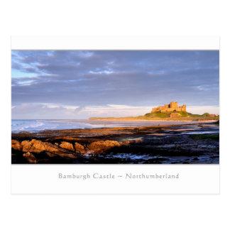 Panorama del castillo de Bamburgh - postal