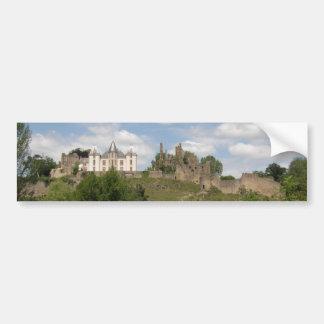 panorama del castillo francés del bressuire pegatina para auto
