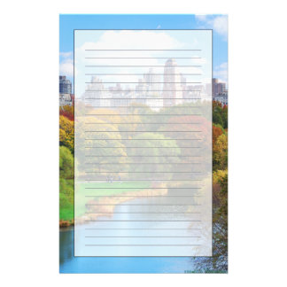 Panorama del Central Park de New York City Personalized Stationery