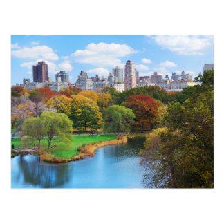 Panorama del Central Park de New York City Postales