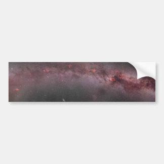 Panorama del compuesto de la galaxia de la vía lác pegatina para auto