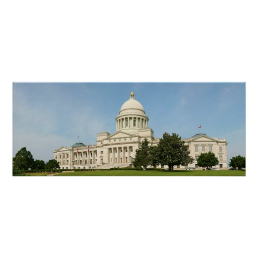 Panorama del edificio del capitolio del estado de  posters