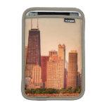 Panorama del horizonte de Chicago en la salida del Fundas iPad Mini