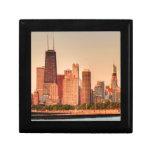 Panorama del horizonte de Chicago en la salida del Joyero Cuadrado Pequeño
