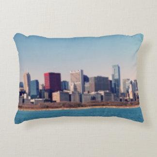Panorama del horizonte de Chicago Cojín Decorativo