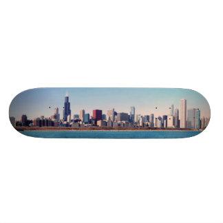 "Panorama del horizonte de Chicago Patineta 8 1/2"""