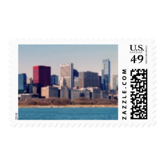 Panorama del horizonte de Chicago Sello