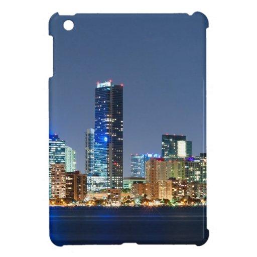 Panorama del horizonte de Miami iPad Mini Carcasa
