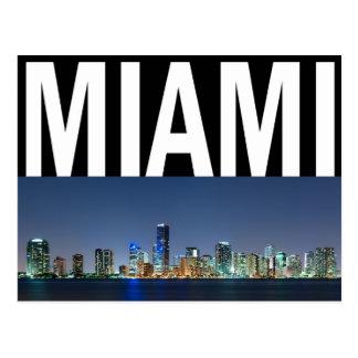 Panorama del horizonte de Miami Tarjeta Postal