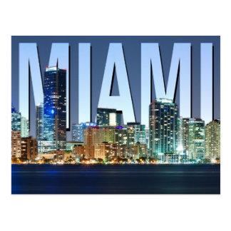 Panorama del horizonte de Miami Postales