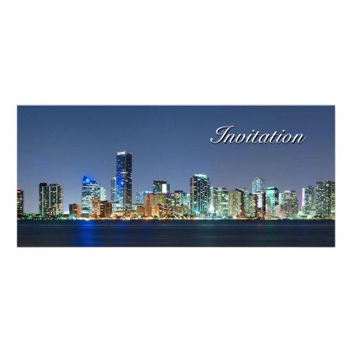Panorama del horizonte de Miami Diseño De Tarjeta Publicitaria