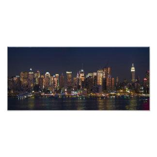Panorama del horizonte de New York City Impresión Fotográfica