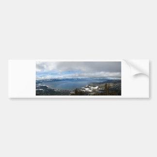 Panorama del invierno del lago Tahoe Pegatina Para Auto