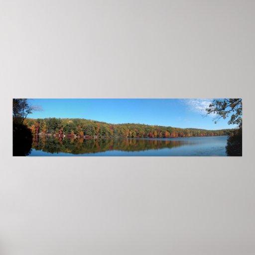 Panorama del lago park de estado de Harriman Póster