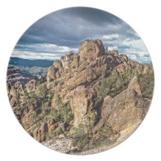 Panorama del monumento nacional de los pináculos plato