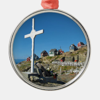 Panorama del noroeste de Groenlandia del Adorno Navideño Redondo De Metal
