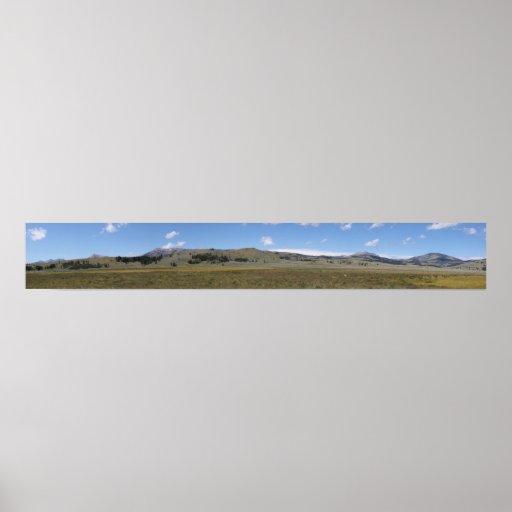 Panorama del norte de Yellowstone Impresiones
