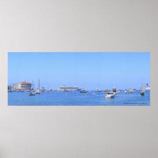 Panorama del océano de la isla de Santa Catalina Póster