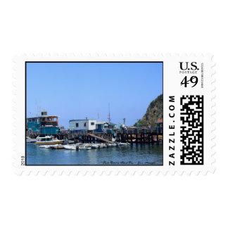 Panorama del océano de la isla de Santa Catalina Timbres Postales