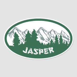 Panorama del parque nacional de jaspe pegatina ovalada