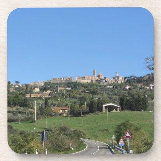 Panorama del pueblo de Volterra, provincia de Pisa Posavasos De Bebida