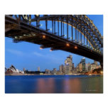Panorama del puente de puerto de Sydney, ópera de  Impresiones
