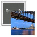 Panorama del puente de puerto de Sydney, ópera de  Pin Cuadrado