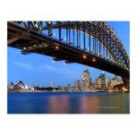Panorama del puente de puerto de Sydney, ópera de Postal