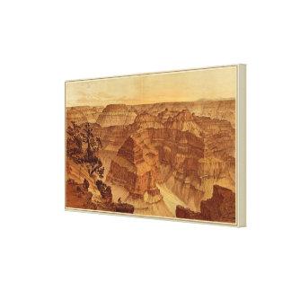 Panorama del punto sublime lienzo envuelto para galerías