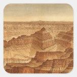 Panorama del punto sublime pegatina cuadrada
