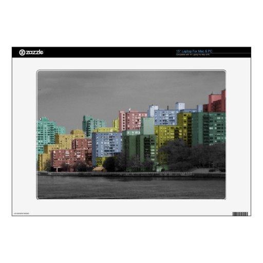 Panorama del río de New York City Portátil 38,1cm Skins