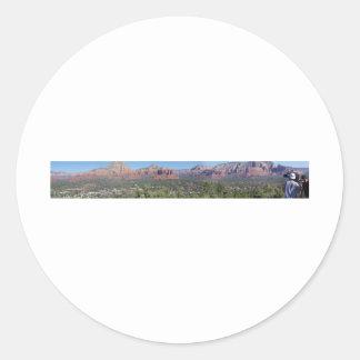 panorama del sedona pegatina redonda