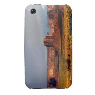 Panorama del valle del monumento iPhone 3 carcasa