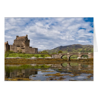 Panorama Eilean Donan Castle viewed from south Card