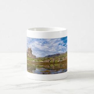 Panorama Eilean Donan Castle viewed from south Coffee Mug