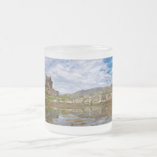 Panorama Eilean Donan Castle viewed from south Frosted Glass Coffee Mug