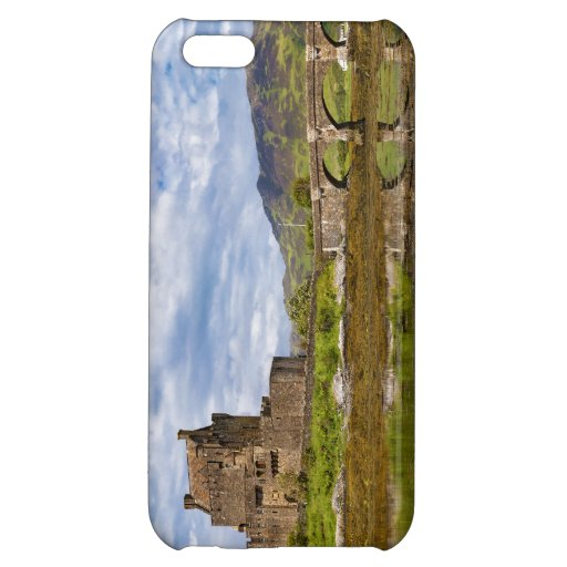 Panorama Eilean Donan Castle viewed from south iPhone 5C Covers