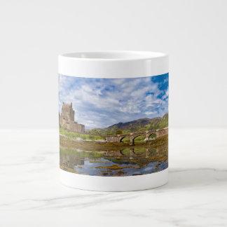 Panorama Eilean Donan Castle viewed from south Large Coffee Mug