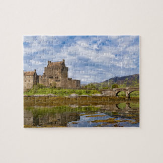 Panorama Eilean Donan Castle viewed from south Jigsaw Puzzle