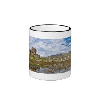 Panorama Eilean Donan Castle viewed from south Ringer Mug