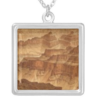 Panorama from Point Sublime 2 Square Pendant Necklace