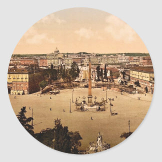 Panorama from the Pincian, Rome, Italy classic Pho Classic Round Sticker