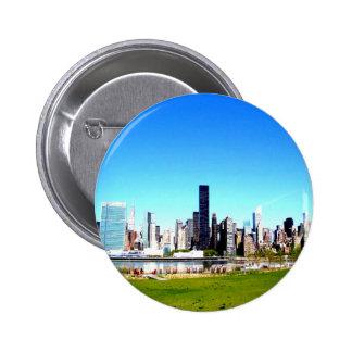 Panorama human intelligent pinback button