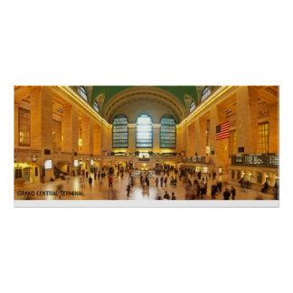 Panorama magnífico del terminal central en New Yor Impresiones