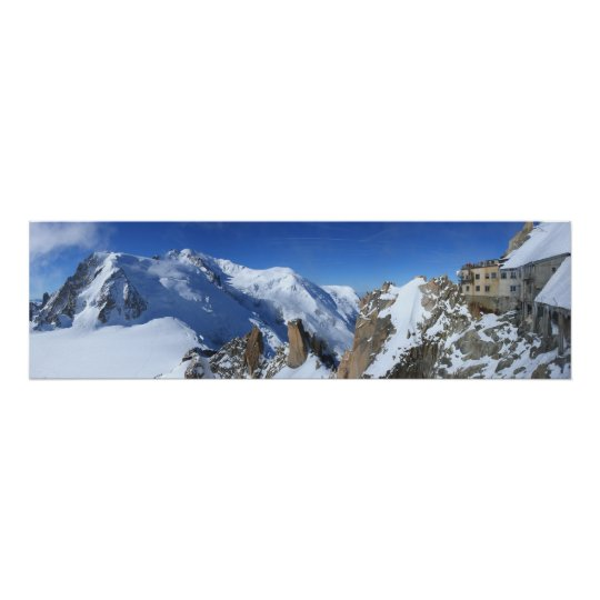 Panorama Mont Blanc France Poster