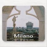 Panorama Mousepad del horizonte de Milano Tapete De Ratones