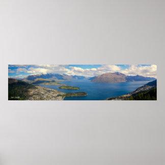 Panorama NZ de Queenstown Poster