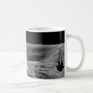 Panorama of Apollo 16 Astronaut on the Moon Coffee Mug